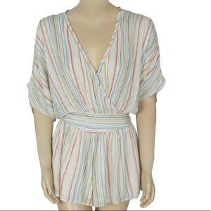 Urban Outfitters Stripes Romper Size Small